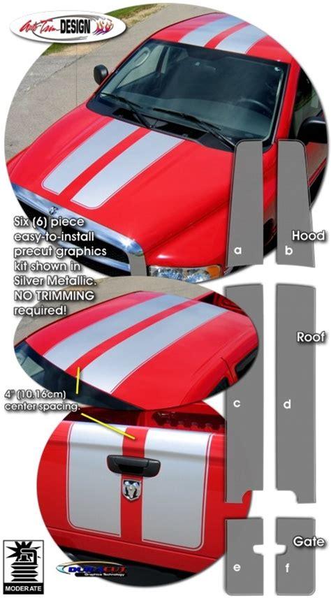 Window Box Yellow Tomato - rally stripe graphic kit 1 for dodge ram truck