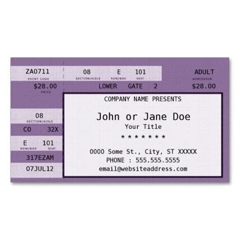 purple citation template purple concert ticket