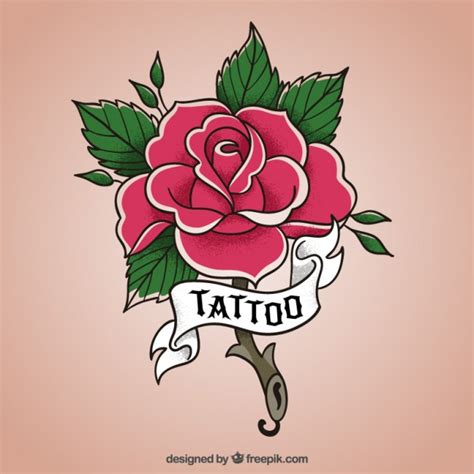 flower tattoo vector free rose flower design vector free download