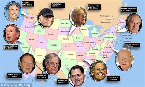 new rich list reveals the wealthiest person in each of the 50 states so you guess who s