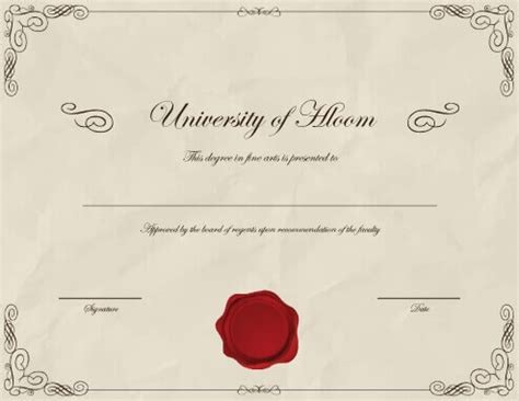 11 Free Printable Degree Certificates Templates Degree Template