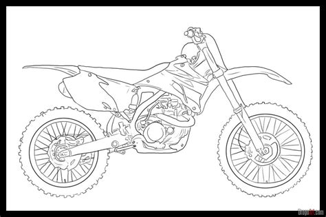 How To Draw A Dirt Bike Step By Step Motorcycles