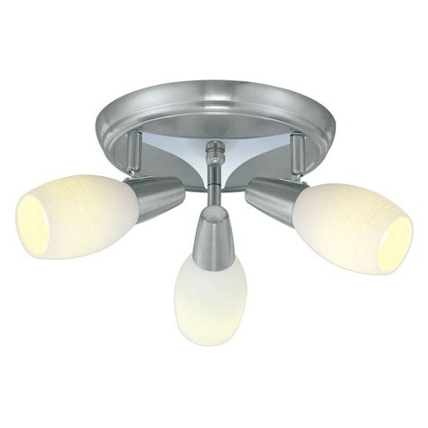 eglo parma 3 matte nickel ceiling lighting fixture