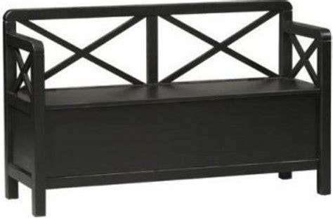 hunter storage bench black storage bench black treenovation