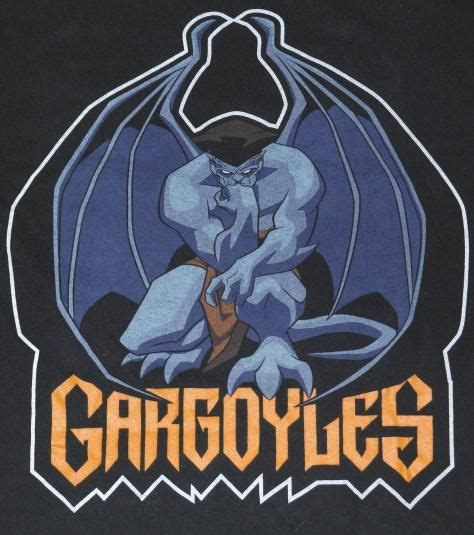 original goliath gargoyles tv show t shirt shirt tag