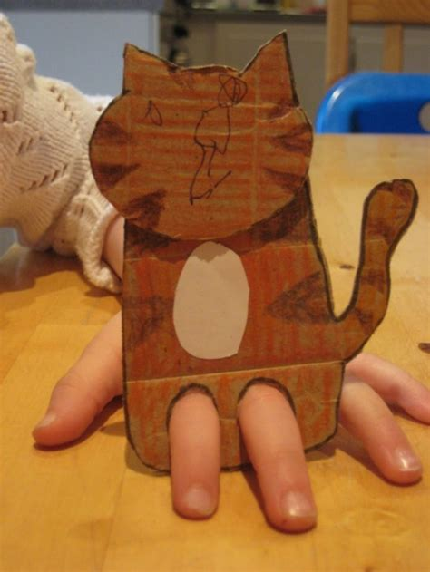 sweet and simple diy tiger finger puppet kidsomania