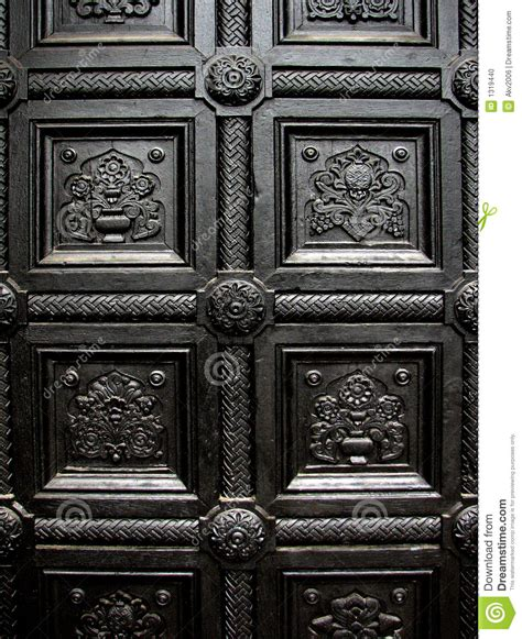 Gothic House Plans Black House Door Pattern Stock Photo Image Of