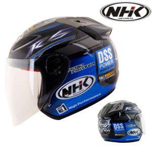 Dijamin Helm Nhk R6 Motif Rally Black Blue Half R 6 helm nhk r6 rally pabrikhelm jual helm murah