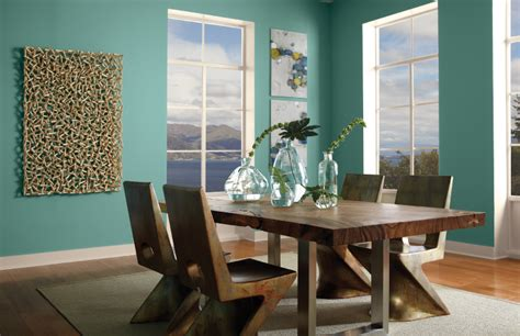 aqua dining room colorfully behr color of the month island oasis