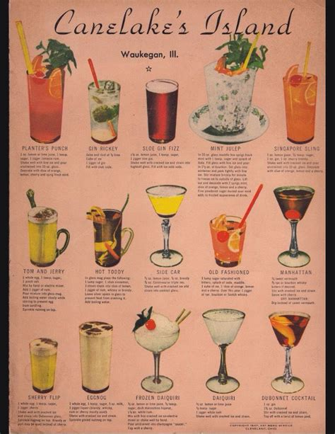 vintage cocktail posters vintage cocktail poster recipes beverages alcoholic
