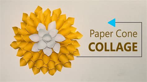 paper crafts diy wall decoration paper cones collage