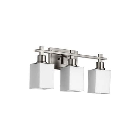 Quorum Bathroom Lighting Quorum International 5098 3 65 Satin Nickel Tate 3 Light Bathroom Fixture Lightingdirect