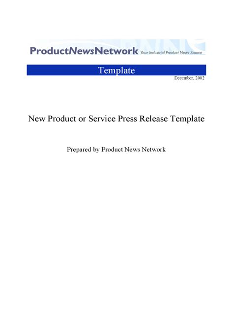 press release template 12 free templates in pdf word