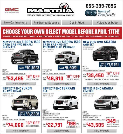 mastria gmc boston shop mastria gmc new car offers