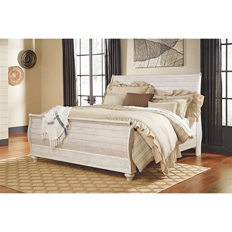sleigh bed queen willowton queen sleigh bed b267 qsleighbed ashley