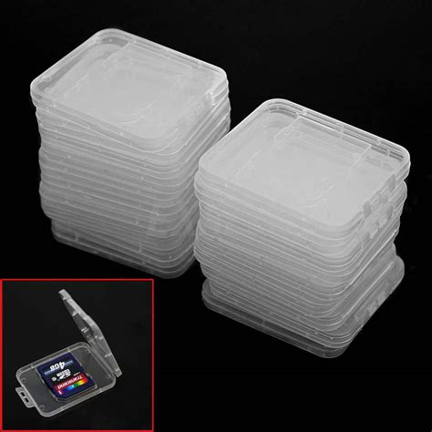 Holder Plastic Storage Box For Memory Card 4 Comp Limited 20 pcs transparent plastic standard sd sdhc memory card