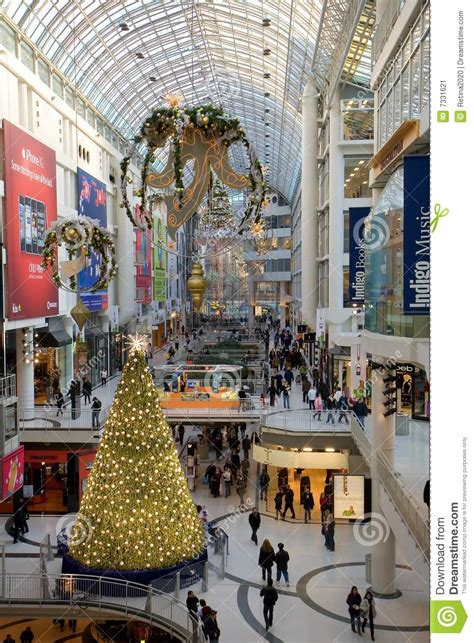 christmas season at toronto eaton centre editorial photo