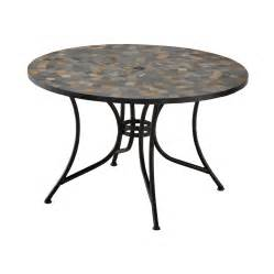 Patio Tile Table Shop Home Styles Harbor 51 25 In X 51 25 In Tile Top Black Steel Frame Patio Dining