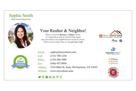 Real Estate Email Signature 05 Real Estate Email Signature Template 05 Real Estate Email Signature Templates