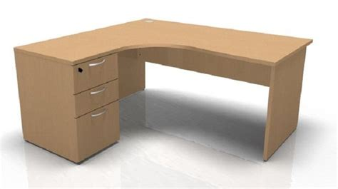 Left Corner Desk Buraile Left Corner Desk And Pedestal Bundle 1600mm Reality