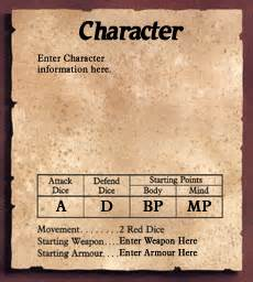 character card template heroquest design tools america canada