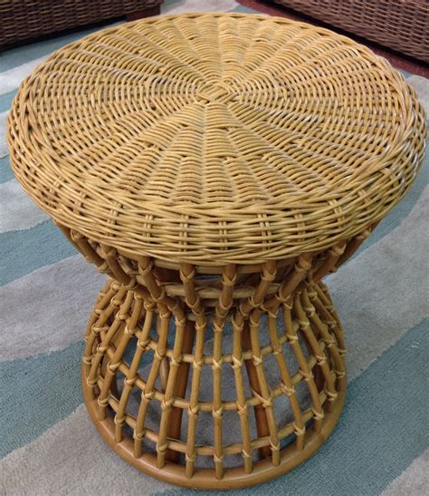 Rattan Stool Hourglass Wicker Stool