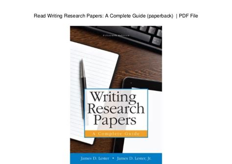 writing research papers pdf read writing research papers a complete guide paperback