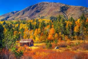 fall colors california valley california rustic barn photograph by mcguire
