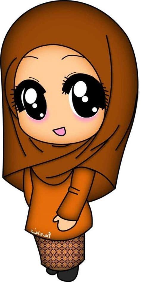 wallpaper kartun  muslimah lucu impremedianet