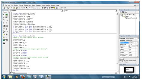 membuat link form vb tutorial membuat form sederhana dengan vb visual basic 6