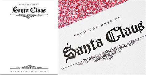 printable free santa stationary search results for from the desk of santa claus