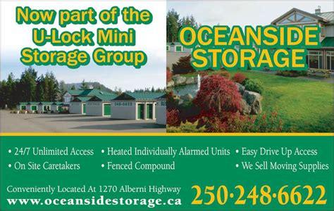 mini storage parksville bc oceanside storage opening hours 1270 alberni hwy