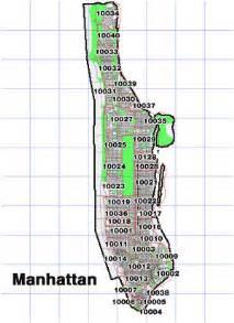 Manhattan Zip Code Map by Nyc Zipcodes