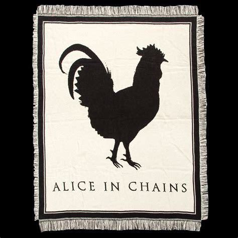 Alice In Chains Rooster | alice in chains rooster woven blanket shop the alice in