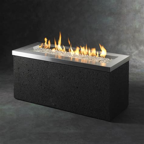 outdoor propane fire pit shop outdoor greatroom company 48 in w 88 000 btu black