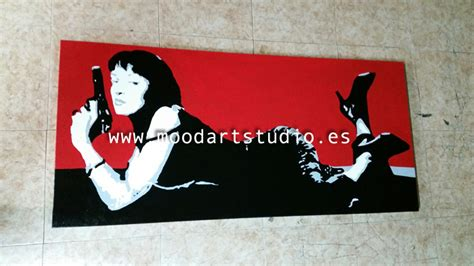 cuadro pulp fiction uma thurman en pulp fiction http www moodartstudio es es