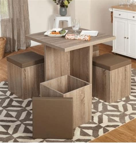 5 piece baxter dining set with storage ottoman multiple colors 5 piece dining set with storage small space solutions