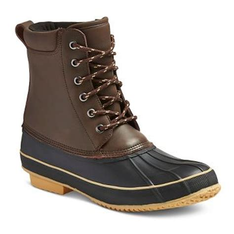 mens boots target mens duck boots target