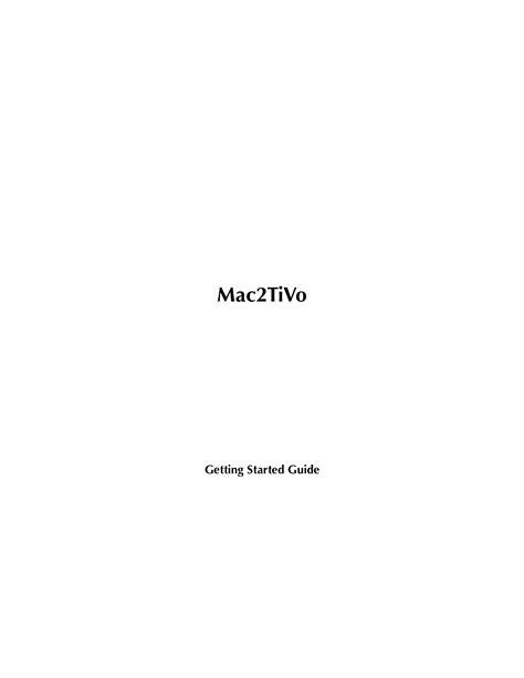 Download Free Pdf For Tivo Series3 Hd Dvr Manual
