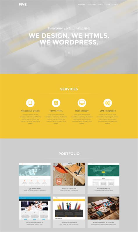 bootstrap one page template five free one page bootstrap template freebies fribly