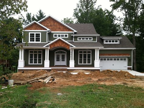 craftsmen home craftsman style home turn the garage to the side change the color and add some rock work