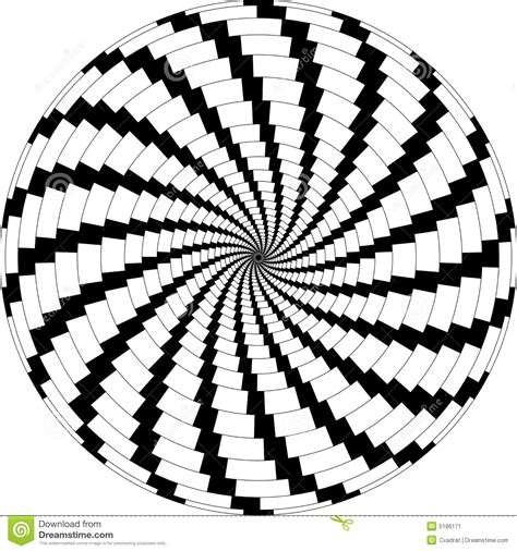 rotate pattern sketch op art rotating windmills black and white stock image