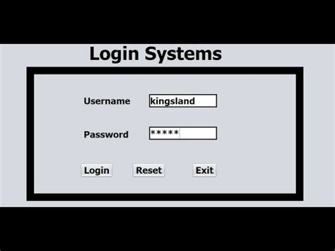 tutorial java login create login form in java using netbeans and sql server