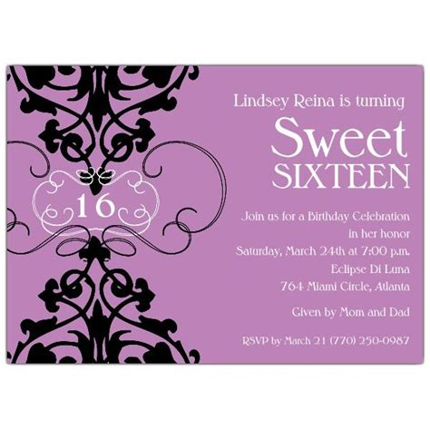 sweet 16 invitation templates 39 best sweet 16 invitations images on sweet