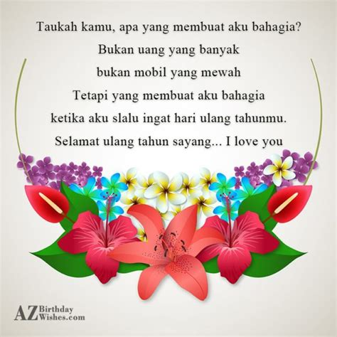Membuat Aku Bahagia In English | birthday wishes in indonesian page 11