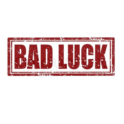 bad luck bad luck st stock vector colourbox