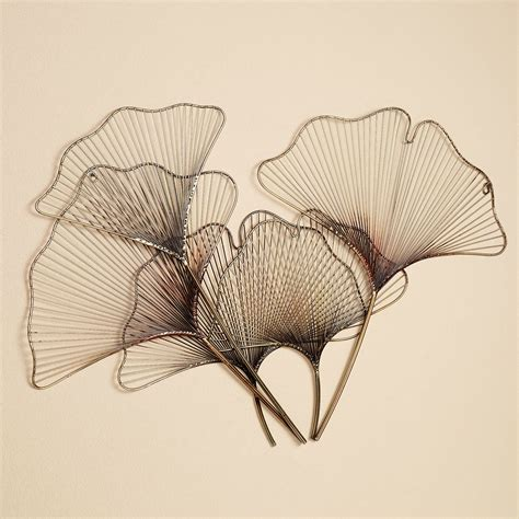 Decorative Wreaths For The Home by Ginkgo Breeze Metal Wall Sculpture