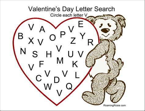 printable alphabet letter search unusual valentine day printable activities pictures