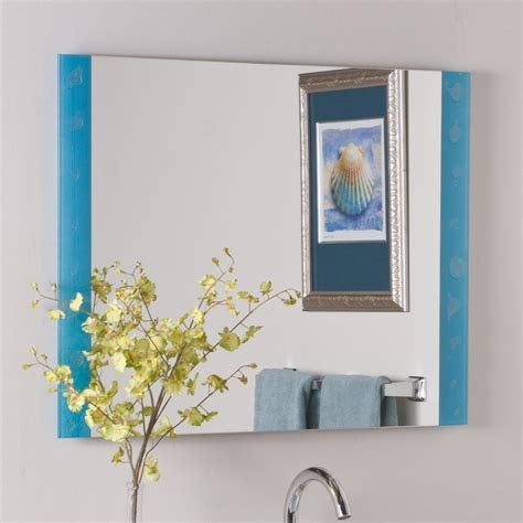 blue bathroom mirror shop decor wonderland the spa 31 5 in x 23 6 in blue