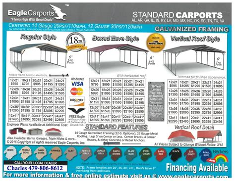 Carport Sizes And Prices Standard Carports Celebrating 10 Successful Years In